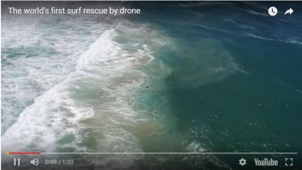 reddingsactie met drone technologie